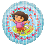 "18"" Dora the Explorer Happy Birthday Foil Balloon SALE"